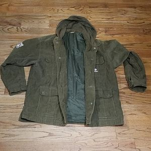 State property State property green corduroy Coat